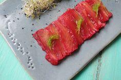 Gravlax de salmón Magenta, Roses