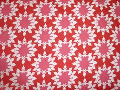 red and pink circle fabric by bumbletees on Etsy