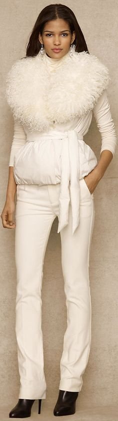 Ralph Lauren...oh, I love to rock all white or all cream..yeah, baby! BellaDonna