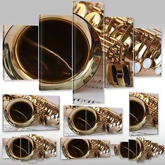 #Saxophone music notes #canvas picture #photoprint wall art home decoration,  View more on the LINK: 	http://www.zeppy.io/product/gb/2/191930715778/