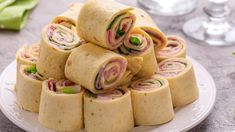 Check out this recipe! Tortilla Rolls, Roll Ups Tortilla, Tortillas, Turkey Roll Ups, Roulade Recipe, I Chef, Recipe Ratings, Fajitas, Food Items
