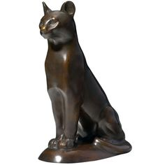 Franz Barwig: Puma, designed 1908 or 1911   From a unique collection of antique and modern sculptures at https://www.1stdibs.com/furniture/decorative-objects/sculptures/
