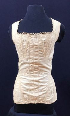 Corset, 1841 from Rochester, NY wedding day corset that bride dated. #gcvmvc