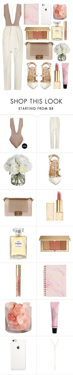 """Never again"" by shanelala ❤ liked on Polyvore featuring Chloé, Diane James, Valentino, Chanel, Tory Burch and Estée Lauder"