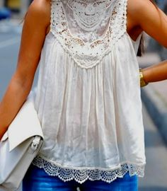 Summer top with lace details