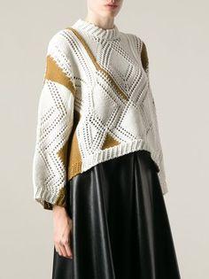 3.1 Phillip Lim geometric pattern sweater