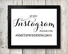 Instagram Wedding Signage