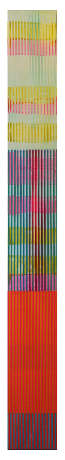 Weaving Landscape Acrylic on wood panel 72 x 8 inches 2014
