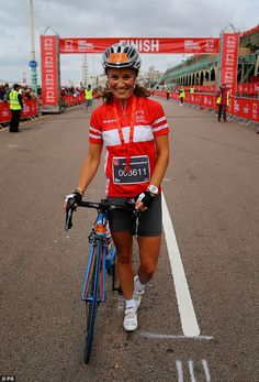 Pippa appeared to have hardly broken a sweat as she crossed the finish line.