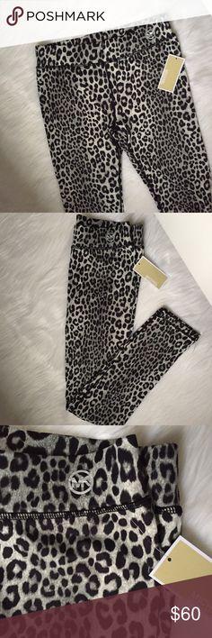 MK Leopard Leggings Leopard print MK Leggings to dress up or down! 90% polyester 10% Elastane Michael Kors Pants