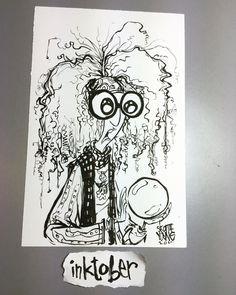 Professor Trelawney #inktober day 1 @inktober