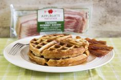 Maple Bacon Waffles    Maple bacon waffles are the ultimate breakfast food, let us show you how easy it is to make this new family favorite! The post Maple Bacon Waffles appeared first on Flourish - King Arthur Flour.   http://blog.kingarthurflour.com/2016/11/10/maple-bacon-waffles/