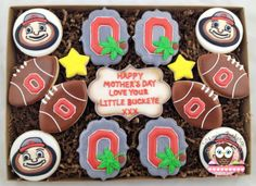 Custom design Ohio State Mother's Day Cookies