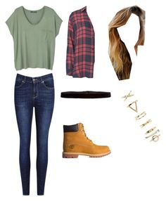 """""""Sin título #15"""" by lovinsmile on Polyvore featuring moda, MANGO, Rails, Timberland, Forever 21 y Steve Madden"""