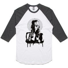 theIndie Death Nurse (Black) 3/4-Sleeve Raglan Baseball T-Shirt
