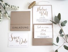 Individuell schöne Hochzeitspapeterie von Traufabrik Papeterie | Hochzeitsblog The Little Wedding Corner