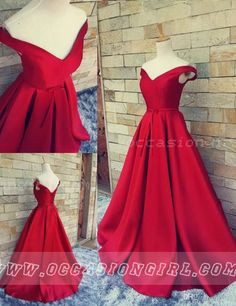 off-the-shoulder red long prom dress 2016, wedding reception dress party dress                                                                                                                                                      More
