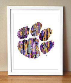 Art Print  Let's Go Tigers  Clemson Tiger by TheTatteredTraveler, $15.00