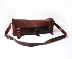 Vintage Tools Leather Bag Brown Leather Bag by FrenchVintageShop-Etsy
