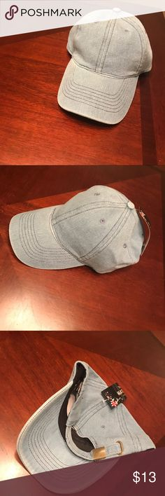 Denim baseball hat Denim baseball hat | gold hardware | new with tags Accessories Hats