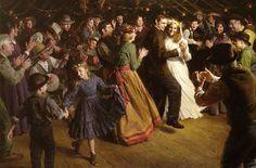 The First Dance, 1884 Americana, Morgan Weistling