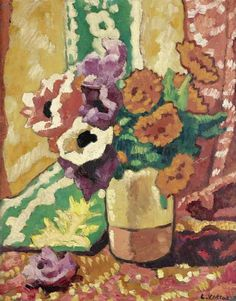 Vase with Flowers, by Louis Valtat (French, 1869–1952).