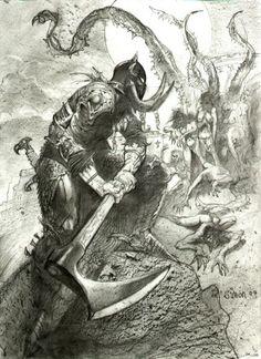 Death Dealer – The Art of Simon Bisley Simon Bisley, Frank Frazetta, Fantasy Artwork, Tattoo Studio, Geniale Tattoos, Sword And Sorcery, Arte Horror, Fantasy Warrior, Fantasy Illustration