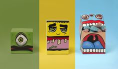 """Halloween isn't over just yet! This promotional packaging fromCharlotte Olsenwas designed to give her  potential clients and friends a good laugh and some delicious candy. This  fun, bold, and colorful design would catch anyone's attention. Happy  Belated Halloween!  """"Did you eat candy until you burst this Halloween?"""""""