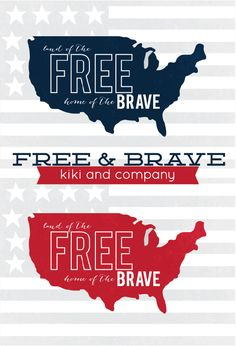Free 4th of July Print from kiki and company in 2 colors