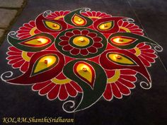Easy Rangoli Designs Diwali, Simple Rangoli Designs Images, Rangoli Designs Flower, Beautiful Rangoli Designs, Creative Arts And Crafts, Diwali Decorations, Indian Art, Pinterest Board, Blouse Designs