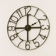 Horloge murale métal noir D.60cm SAACAD