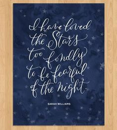 Graphic Design - Graphic Design Ideas  - Loved The Stars Quote Calligraphy Art Print by Mint Afternoon on Scoutmob Shoppe   Graphic Design Ideas :     – Picture :     – Description  Loved The Stars Quote Calligraphy Art Print by Mint Afternoon on Scoutmob Shoppe  -Read More –