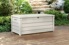 Keter Brightwood 120 Gallon Outdoor Garden Resin Patio Storage Furniture Deck Box * Click image for more details.-It is an affiliate link to Amazon.