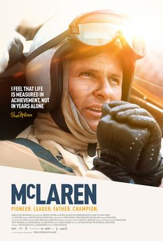 New poster for upcoming sports documentary McLaren