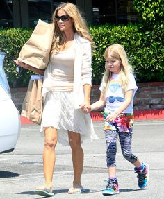Denise Richards and her daughter