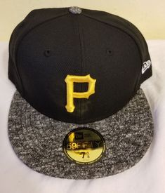 663a68f2300 New Era Pittsburgh Pirates GAME 59Fifty Fitted Hat (Black Grey) MLB Cap   fashion  clothing  shoes  accessories  mensaccessories  hats (ebay link)