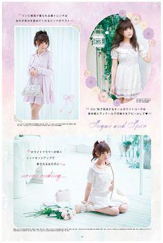 Liz Lisa Playful Pin-up girl vol 2 Japan Fashion, Kawaii Fashion, Lolita Fashion, Cute Fashion, Kawaii Hairstyles, Cute Hairstyles, Harajuku, Larme Kei, Popteen
