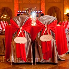 Silver Chair Covers