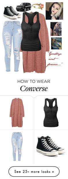 """""""Untitled #1518"""" by nikkey23 on Polyvore featuring LE3NO, Converse and Vintage"""