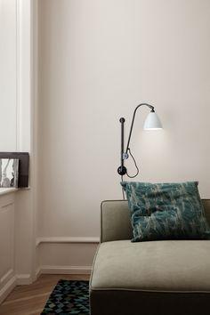 GUBI // BL5 Wall Lamp, Modern Line Sofa
