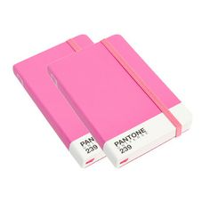 Pantone A6 Notebook Pink Pair