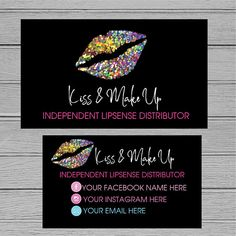 LIPSENSE Business cards |Customized Business cards |SeneGence International | LipSense | Distributor | Lip sense Business - DIgital Download