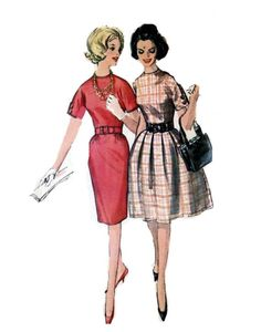 Retro mad men dress sewing pattern Simplicity 5023