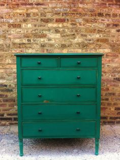 Vintage Dresser In Emerald Green by minthome on Etsy, $325.00