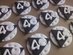 Golf Balls & Greens, Edible Fondant Cupcake or Cookie Toppers. $36.00, via Etsy.