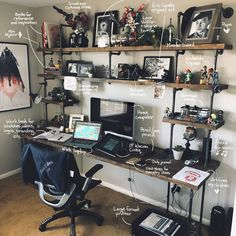 Thank you all so much for sharing your amazing and interesting home office setup with us, during these challenging times. Home Studio Setup, Home Office Setup, Studio Room, Home Office Design, House Design, Workspace Inspiration, Design Inspiration, Gaming Room Setup, Desk Setup
