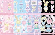 Fancy Paper Dolls Print | #AngelicPretty #AP #Print #Lolita