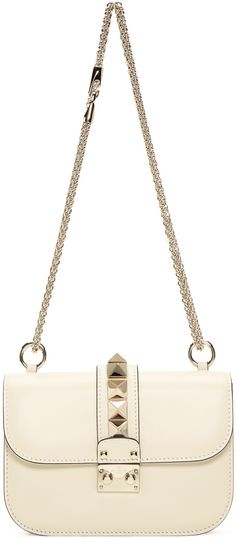 508ba237be Valentino - Ivory Small Rockstud Lock Bag Valentino Bags, Valentino  Garavani, Fashion Bags,