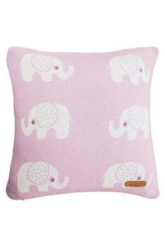 6c54ae02ff Kissenbezug 40x40 cm Bio Baumwolle, Elefanten rose von Made by Hans Natur,  Mit Reißverschluss