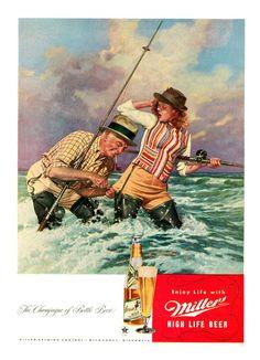 Miller High Life Beer -1946